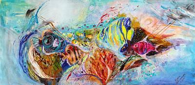 Painting - Splash Of Life #14 Red Sea  by Elena Kotliarker