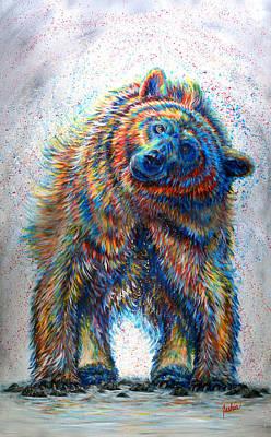 Bear Painting - Splash by Teshia Art