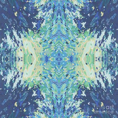 Juul Painting - Splashing- Water Mandala by Margaret Juul