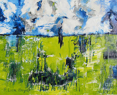 With Pallet Knife Painting - Splendor Of Nature by Lisa Boyd