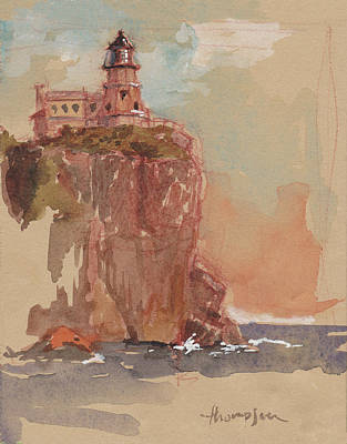 Split Rock Lighthouse Original by Tracie Thompson