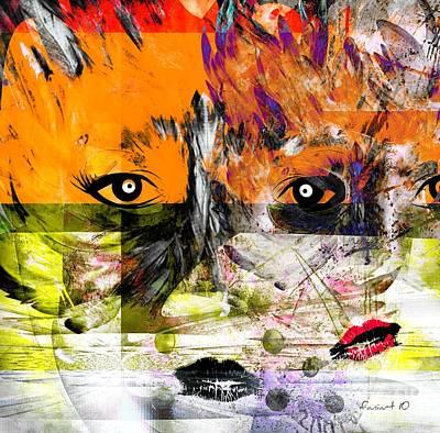 Yesayah Painting - Splitting - Links Between Us by Fania Simon