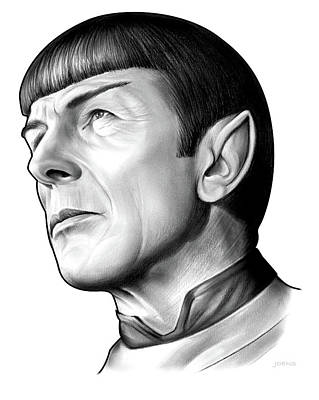 Drawing - Spock 2 by Greg Joens