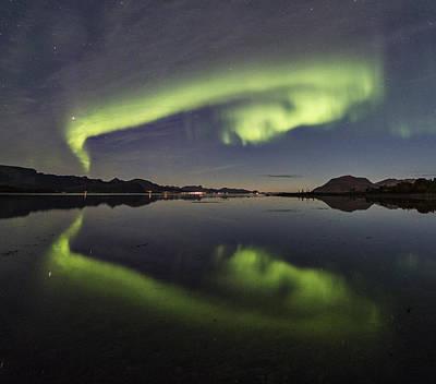 Aurora Borealis Photograph - Spooky Face by Frank Olsen