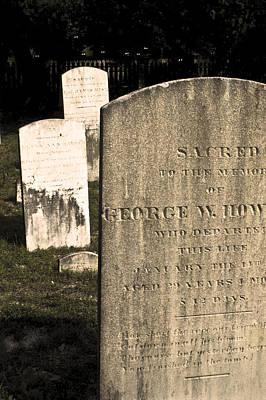 Spooky Tombstones. Print by Robert Ponzoni