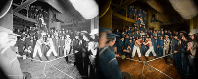 Sports - Boxing - The Second Round 1896 - Side By Side Print by Mike Savad
