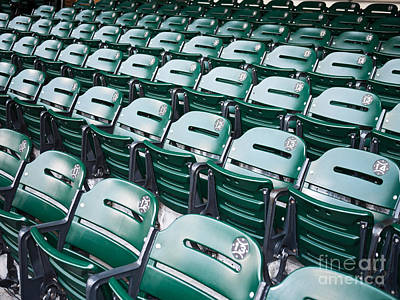 Empty Chairs Photograph - Sports Stadium Seats Picture by Paul Velgos