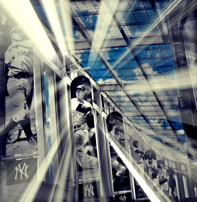 Yankee Stadium Digital Art - Spotlight On The Yankee Clipper II by Aurelio Zucco