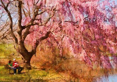 Spring - Sakura - A Beautiful Spring Day  Print by Mike Savad