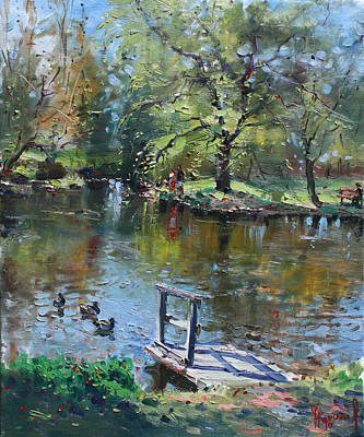 Landscapes Lakes Painting - Spring Again by Ylli Haruni
