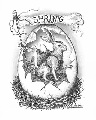 Paper Images Drawing - Spring Arrives by Adam Zebediah Joseph