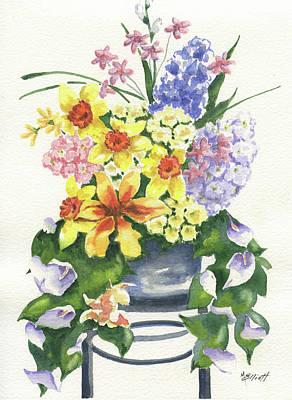 Daffodils Painting - Spring At Last by Marsha Elliott