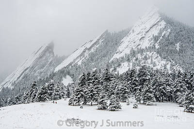 Photograph - Spring At The Flatirons by Greg Summers