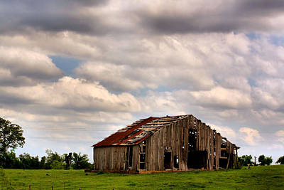 Digital Altered Photograph - Spring Barn by Karen M Scovill