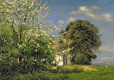 Tranquil Painting - Spring Blossom by Christian Zacho