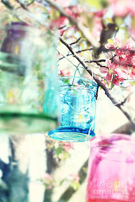 Spring Blossoms And Candles Print by Stephanie Frey