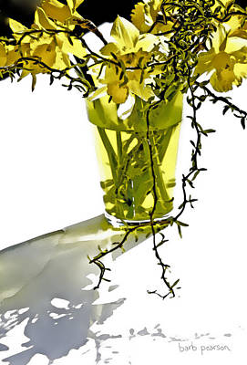 Forsythia Painting - Spring Bouquet by Barb Pearson