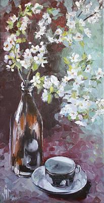 Beer Oil Painting - Spring Breakfast by Vali Irina Ciobanu