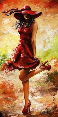 Long Hair Painting - Spring Breeze by Emerico Imre Toth