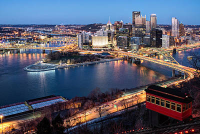Landscape Photograph - Spring Evening At The Duquesne Incline by Matt Hammerstein