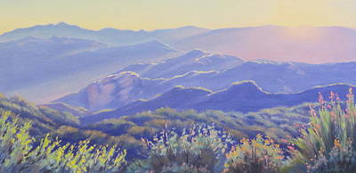 Malibu Painting - Spring Evening Topanga Canyon by Elena Roche