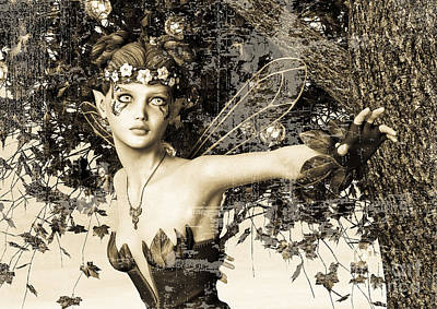 Digital Art - Spring Fairy In Fantasy Garden by Design Windmill