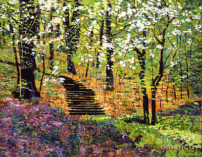 Pink Painting - Spring Fantasy Forest by David Lloyd Glover