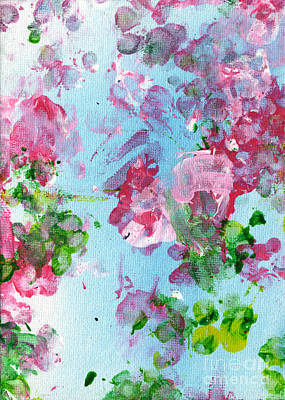 Expressionist Painting - Spring Flowers by Antony Galbraith
