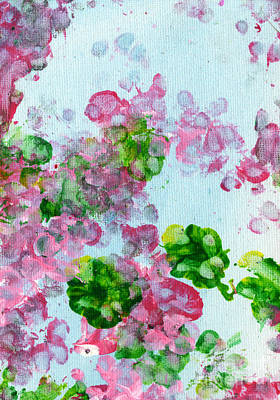 Paws Painting - Spring Flowers II by Antony Galbraith