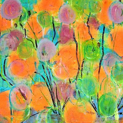 Abstract Painting - Abstract Spring Flowers by Micki Rongve