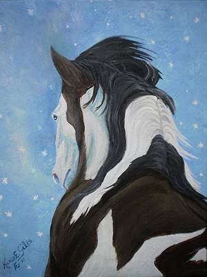 Pinto Painting - Spring Flurries by Karen Giles