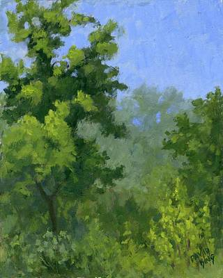Spring Landscape Painting - Spring Foliage by David King