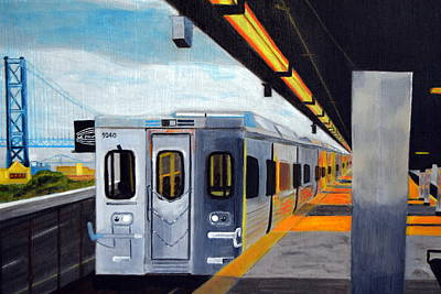 Philadelphia Skyline Painting - Spring Garden Station by Michael Walsh
