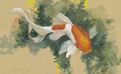 Goldfish Painting - Spring Goldfish I by Tracie Thompson