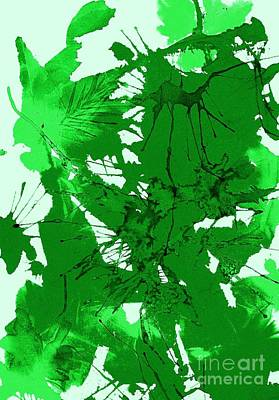 Spring Green Explosion - Abstract Print by Ellen Levinson