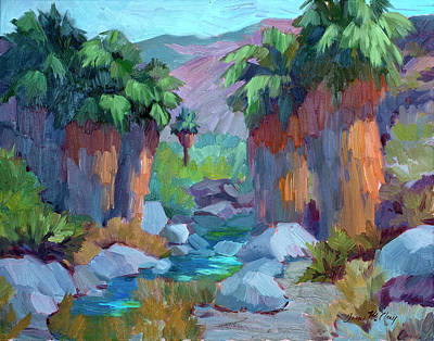 Ferns Painting - Spring In Indian Canyon by Diane McClary