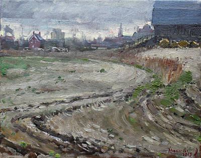 Barn Painting - Spring In The Farm by Ylli Haruni