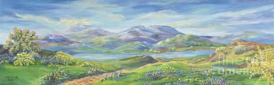 Spring In The Okanagan Valley Print by Malanda Warner