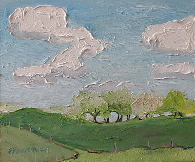 Contry Painting - Spring In The Orchard Hatley Quebec Canada by Francois Fournier
