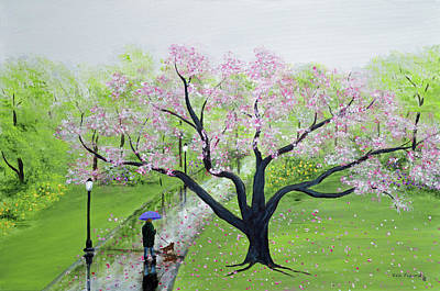 Nyc Painting - Spring In The Park by Ken Figurski