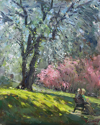 Spring In The Park Print by Ylli Haruni