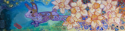 Daffodils Painting - Spring  by Kimberly Santini