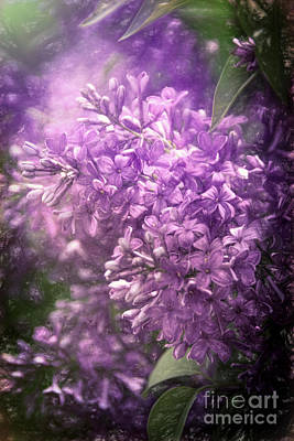 Delicate Details Painting - Spring Lilac Burst by Janice Rae Pariza