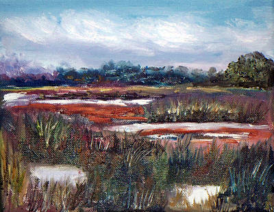 Oil Painting - Spring Marsh by Carol Sprovtsoff