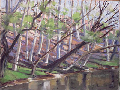Pastel - Spring, Monocacy Creek by Grace Keown