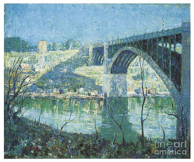 Harlem Painting - Spring Night Over Harlem River by Celestial Images