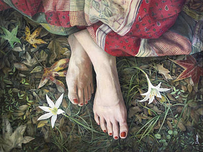 Forest Floor Painting - Spring Nymph by Clovis Rusk