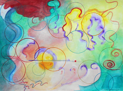 Multicolored Painting - Spring Of Hope by Laura Joan Levine
