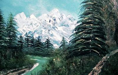 Ledge Drawing - Spring On The Mountain by Debra Lynch