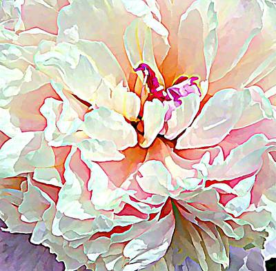 Angelic Digital Art - Spring Peony by Mindy Newman